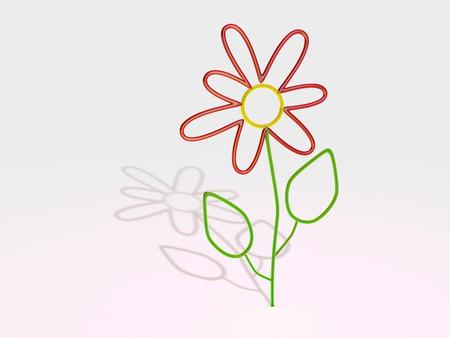 glass flower on white background Фото со стока