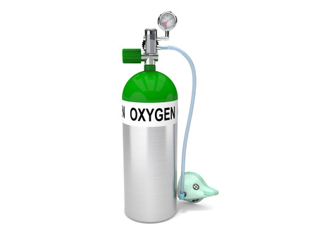 oxygen tank and mask Stock Photo