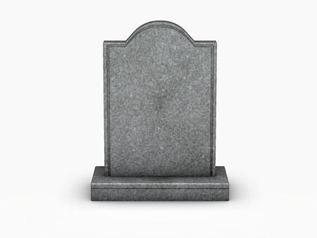 Grabstein auf weißem Hintergrund Standard-Bild - 43549755