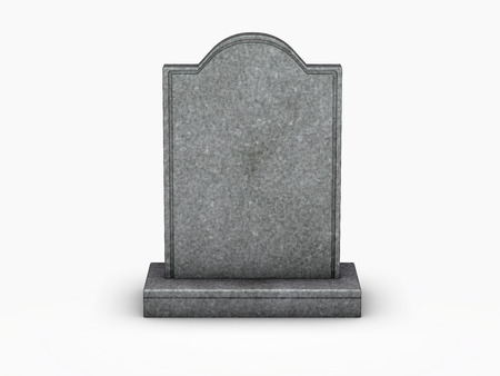 gravestone on white background Stock Photo