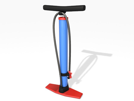 air pump: bicycle air pump isolated on white