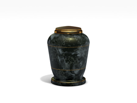 urn: funeral urn on white background