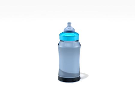 baby bottle isolated on white background