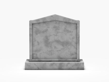 gravestone isolated on white background