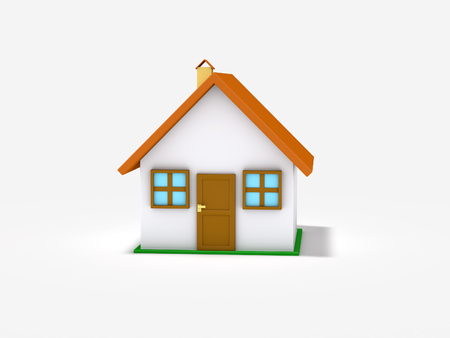 3d rendered small house isolated on white background