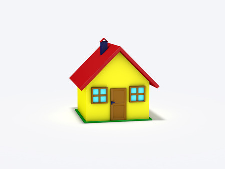 small house: 3d rendered small house isolated on white background