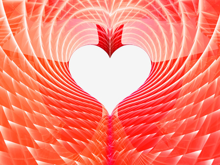 abstract red heart background