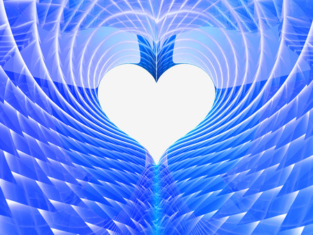 abstract blue heart background
