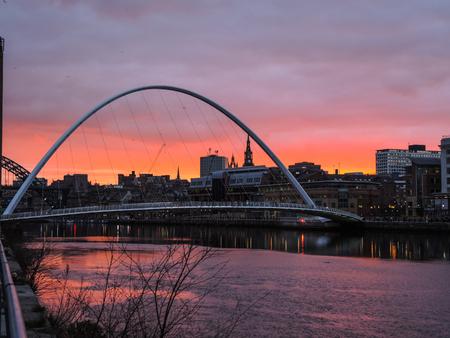 millennium bridge: Newcastle upon Tyne - Gateshead Millennium Bridge