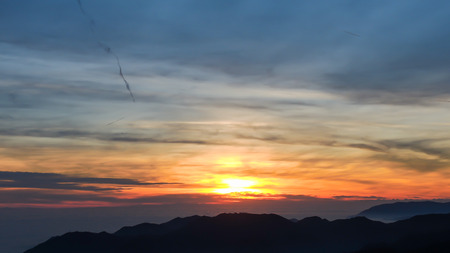formic: Fiery sunset from mountain pick