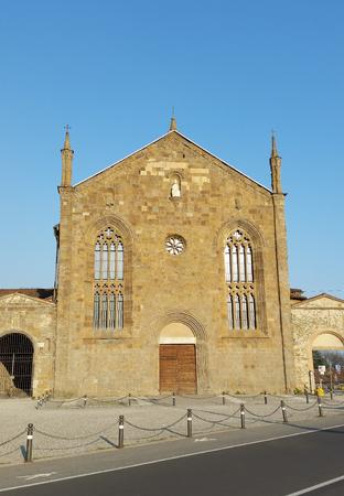Bergamo - St. Augustine Church Stock Photo