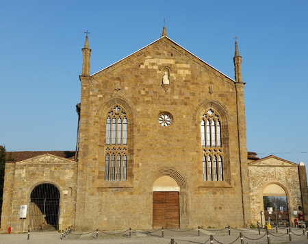 desecrated: Bergamo - St. Augustine Church Stock Photo