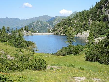 artifical: Orobie Alps - Beak artifical lake - Twin Lakes Area - Carona - Italy
