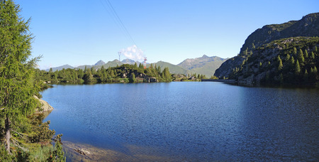 artifical: Orobie Alps - Marcio artifical lake - Laghi Gemelli (Twin Lakes) Area - Brembana Valley. Carona - Italy