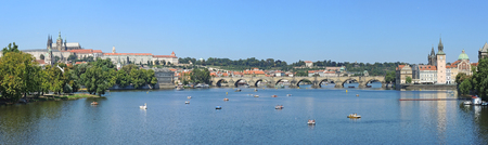 vltava river: Prague is the capital of the Czech Republic. political and cultural center of Bohemia. Its historic center was included in the Unesco World Heritage. The Vltava river ant its bridges Editorial