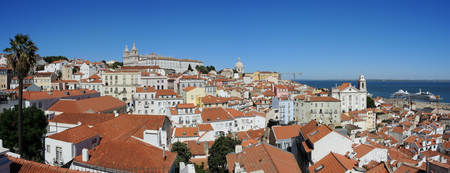 warmest: Lisbon, Portugal. Viewpoint Largo das Portas do Sol, a balcony opens onto the river offering truly spectacular views over Alfama. Lookout on the Monastery of Sao Vincente