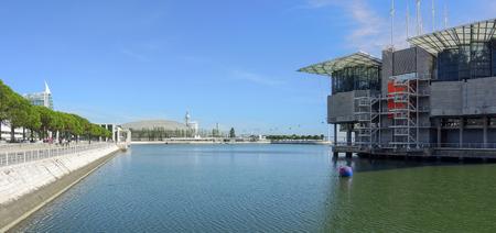Lisbon, Portugal. Oceanarium closed to the Vasco de Gama center and Park of the One of the biggest oceanarium in the world.
