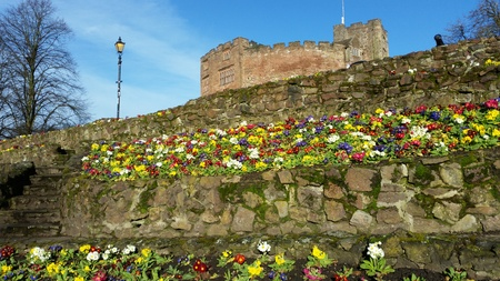 Tamworth is a large market town in Staffordshire, England, northeast of Birmingham. Stock Photo