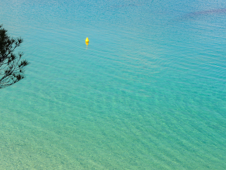 Landscape of the beautiful bay of Arenal den Castell with a wonderful turquoise sea, Menorca, Spain Stock Photo