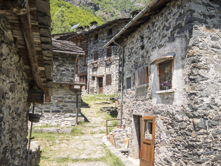 Maslana is an ancient rural village accessible only on foot. Valbondione, Bergamo, Italy.