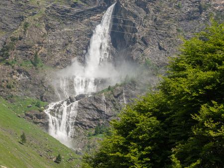 Valbondione, Bergamo, Italy. The Serio falls. The tallest waterfall in Italy