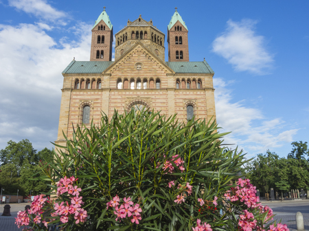 stephen: Speyer, Germany. The facade of the Cathedral officially named the Imperial Cathedral Basilica of the Assumption and St Stephen Editorial