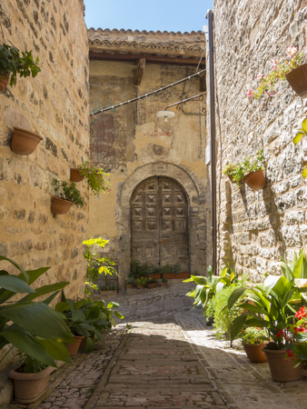 Spello, Italy. The palaces and tourist attractions of the medieval village