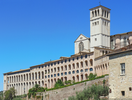 Assisi, Italy, one of the most beautiful small town in Italy. The Basilica and the Sacred Convent of Saint Francis