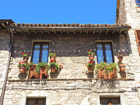 Assisi, Italy,   Historical buildings in the old city center