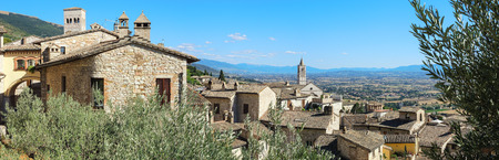 of assisi: Assisi, Italy, to UNESCO world heritage. Historical buildings and houses in the old city center