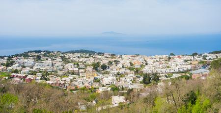 Capri, Naples, Italy. Great landscape from the summit of mount Solaro Standard-Bild
