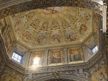 Bergamo, Italy. Interior view of the Santa Maria Maggiore Cathedral
