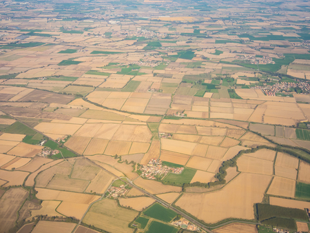 The Po Valley from the plane window