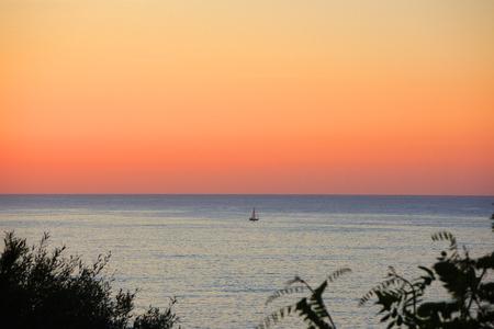 Summer sunrise at Mediterranean sea. Mallorca, Spain