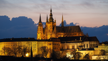 Prague, Czech Republic, center of Bohemia. Historic center included in the Unesco World Heritage. The largest ancient castle in the world. The Metropolitan Cathedral of Saints Vitus