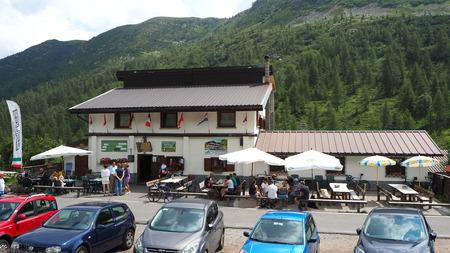Schilpario, Bergamo, Italy. Mountain pass Editorial