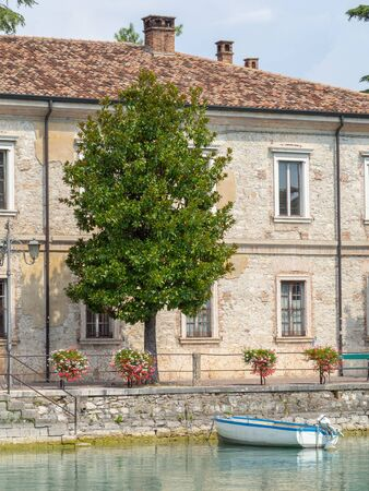 Peschiera del Garda, Italy. Garda Lake. The old military buildings in the city center