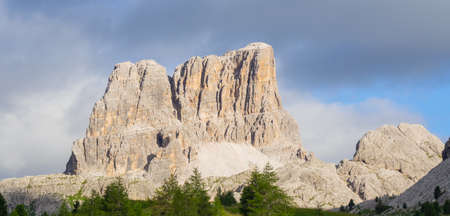 Amazing landscape at the Dolomites in Italy. Imagens