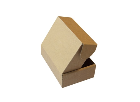 Cardboard box isolated on the white background  Vector illustration