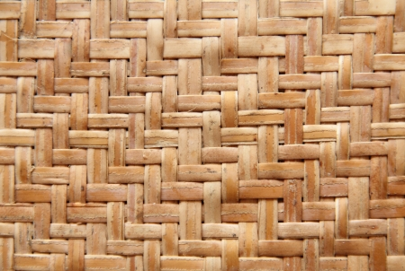 The Grunge Bamboo Wall Hand Made of Bamboo Weaving  Stock Photo