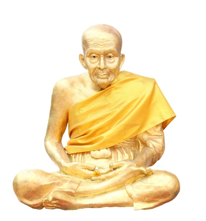 Isolated shot of Statue of buddhist Monk
