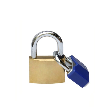 Key locked isolated over white background Stock Photo - 15911001