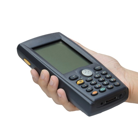 Barcode scanner operated on PocketPC Stock Photo - 16571282