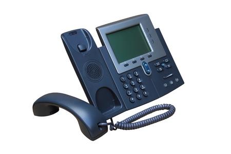 telephony: IP telephone or net telephone replesentative of IP phone technology.