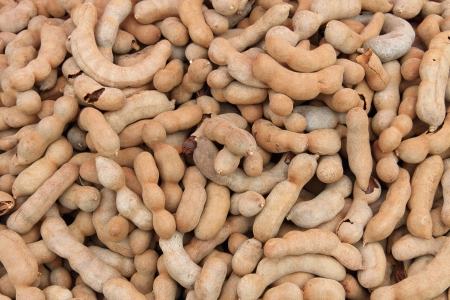 Sweet tamarind, for sale on a market stall in Thailand  photo