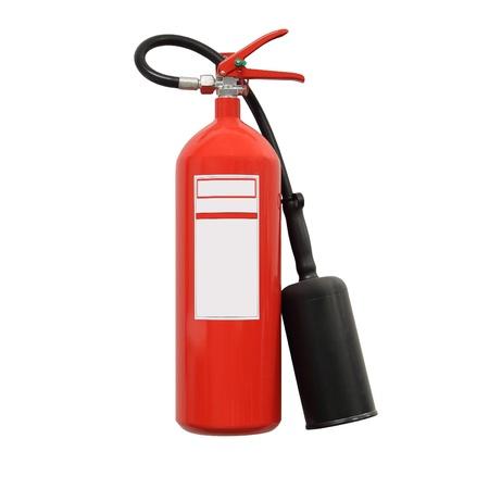 cilindro: Extintor de incendios aislados Foto de archivo