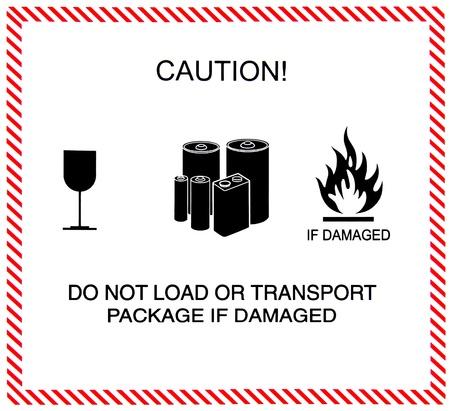 Caution of transportation photo