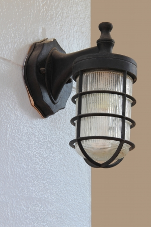 Lighting fixtures on the wall photo