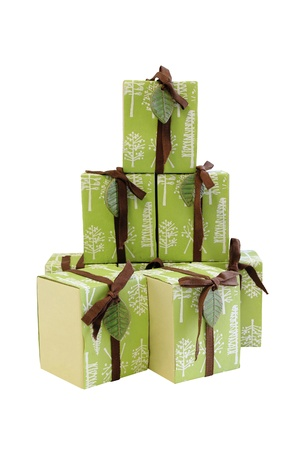 Set of gift boxes isolated. Stock Photo - 17233357