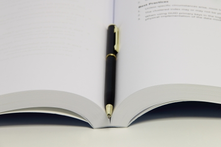 Book and pen close-up